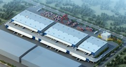 宁波市梅山保税港区在建双层坡道高标仓招商